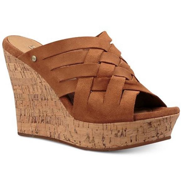 3ef9e650115 UGG Marta Wedge Sandals NIB Sz 9 NWT